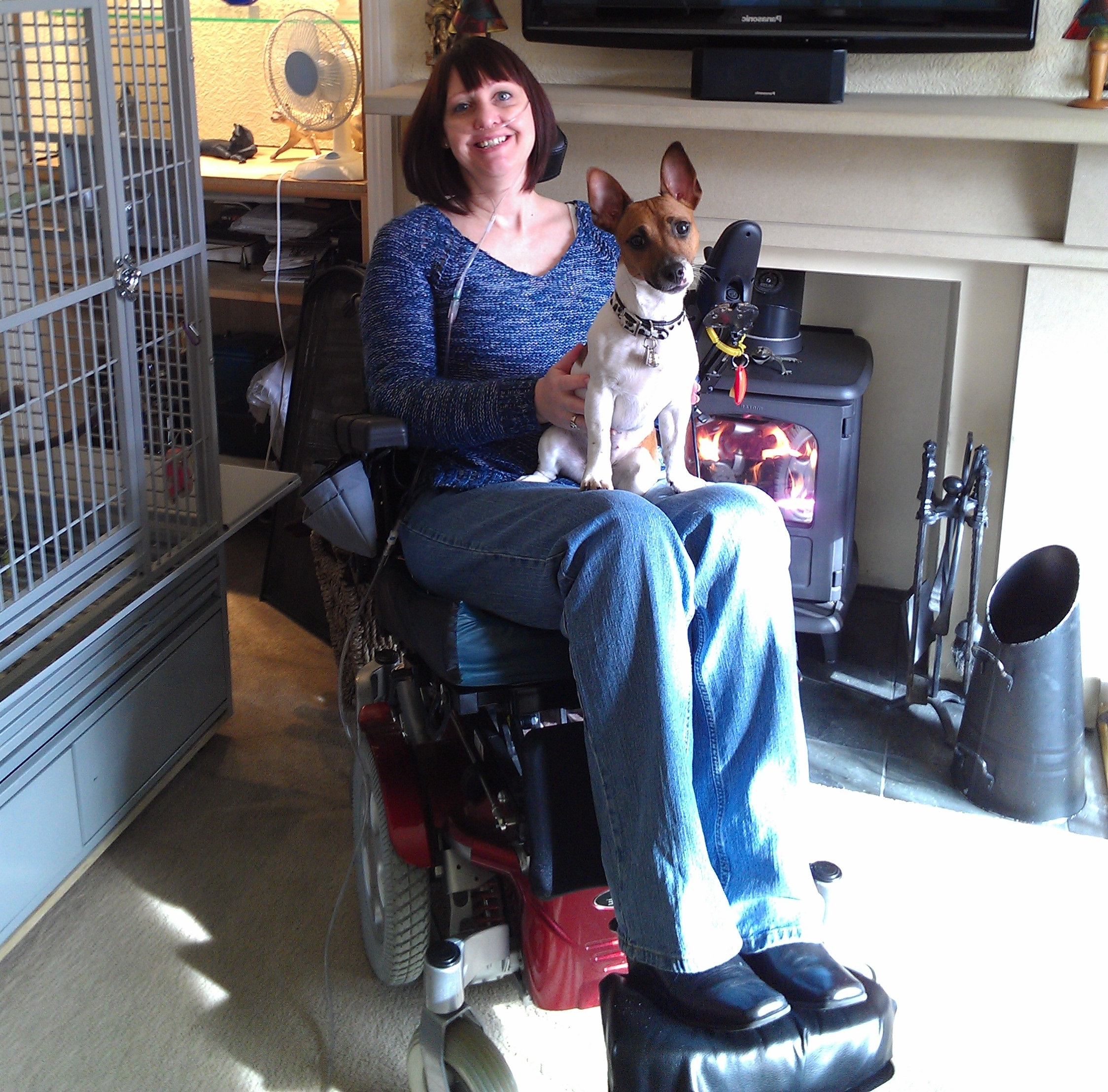 Wendy in her power chair