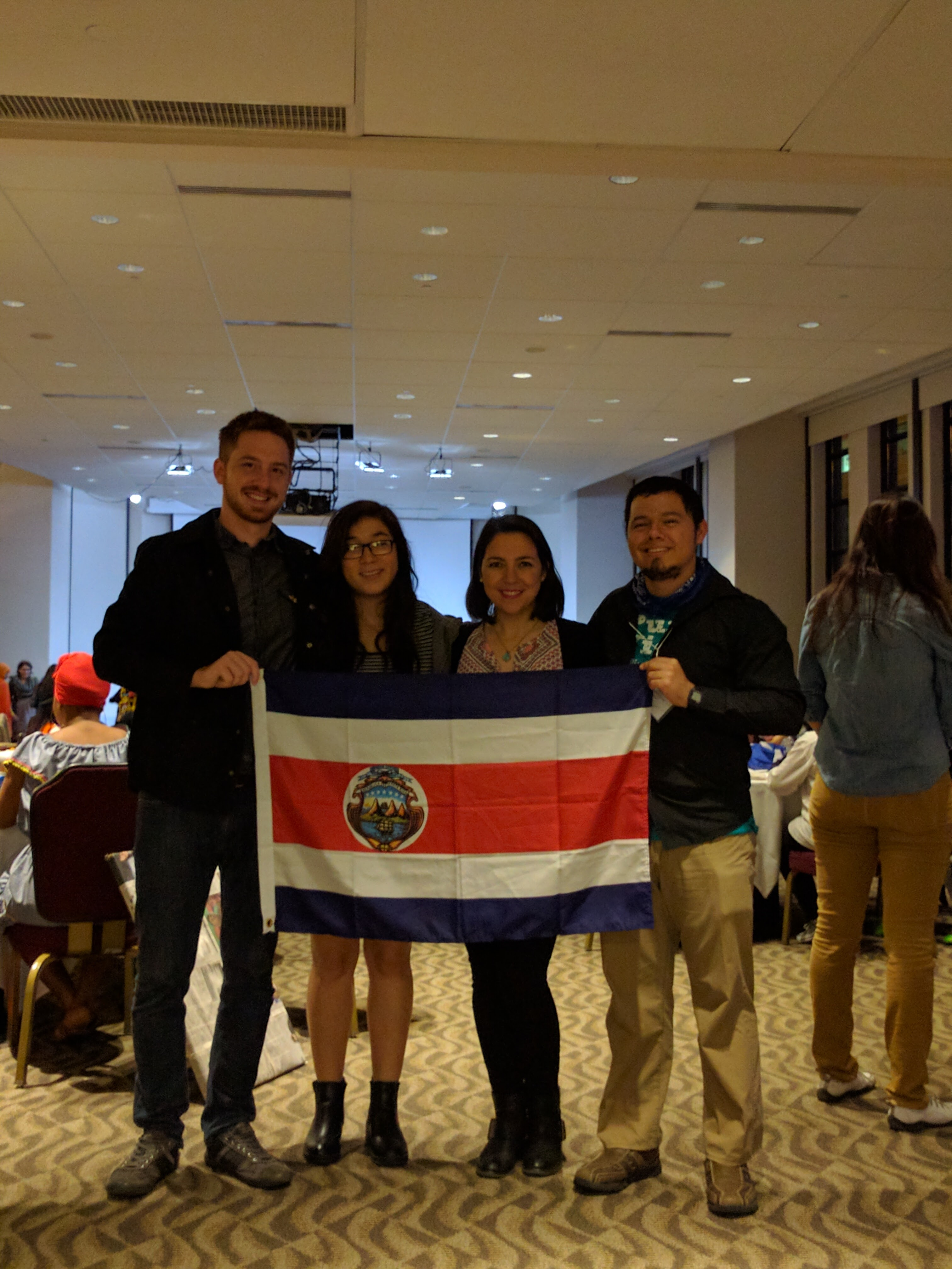 The other Costa Rican delegate and me in Washington, DC, with the World Learning officials of the Global UGRAD program that granted me a scholarship during my semester abroad.