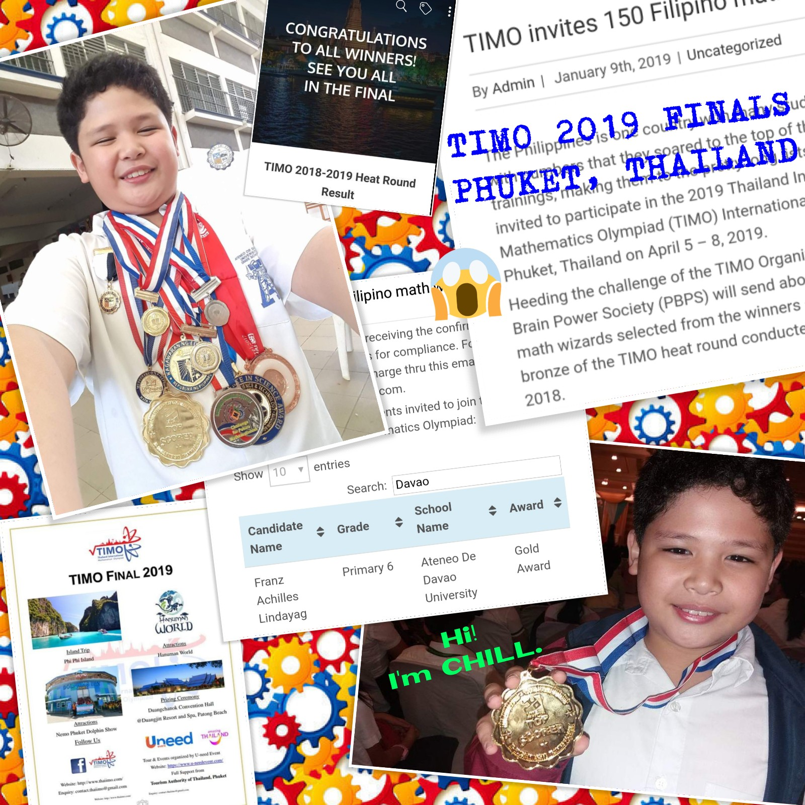 HELP FRANZ ACHILLES JOIN INTERNATIONAL CONTESTS ABROAD